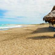 La Loberia Beach View In Salinas, Ecuador  Poster