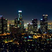 L.a. Night View Poster