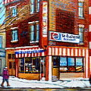 La Quebecoise Restaurant Montreal Poster