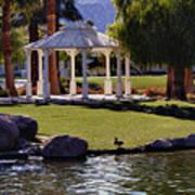 La Quinta Park Lake And Gazebo Poster