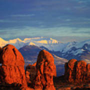La Sal Mountains In Arches Np Utah Poster