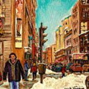 La Senza St Catherine Street Downtown Montreal Poster