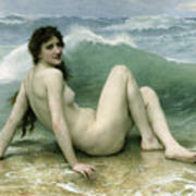 La Vague Poster by William Adolphe Bouguereau