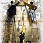 Labor Movement. Editorial Cartoon Poster by Everett