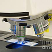 Laboratory Fluorescent Microscope Poster