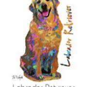 Labrador Retriever Pop Art Poster