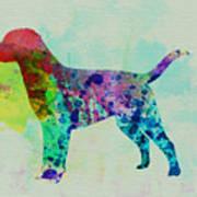 Labrador Retriever Watercolor Poster by Naxart Studio