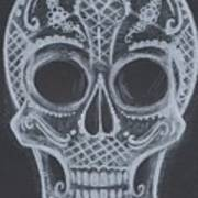 Lace Sugar Skull Poster