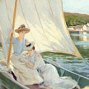 Ladies In A Sailing Boat  Poster