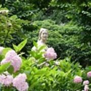 Lady In Salzburg Garden Poster