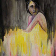 Lady In Yellow  Poster