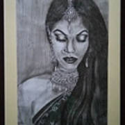 Lady With Bridal Jewelry Poster