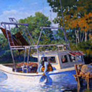 Lafitte Skiff Poster by Kevin Lawrence Leveque
