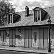 Lafittes Blacksmith Shop Bar In Black And White Poster
