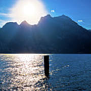 Lago Di Garda At Sunset View Poster