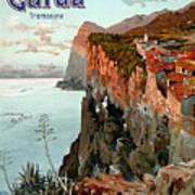 Lago Di Garda Lake Garda Vintage Poster Poster