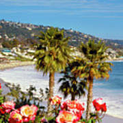 Laguna Beach Springtime Pano Poster