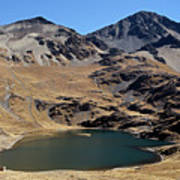 Laguna Thuni In Condoriri Mountains Poster