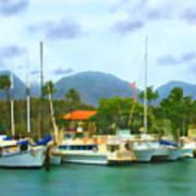 Lahina Harbor Poster
