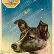 Laika The Space Dog Postcard Poster