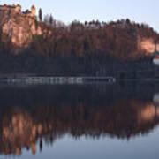 Lake Bled At Dawn Poster