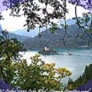 Lake Bled.slovenia.greeting Card Poster