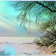 Lake Erie In Winter Poster