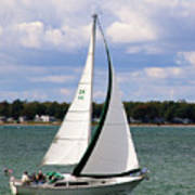 Lake Erie Sailing 8092 Poster