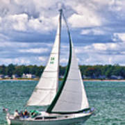 Lake Erie Sailing 8092h Poster