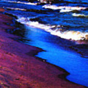 Lake Erie Shore Abstract Poster