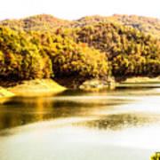 Lake Fantana In The Mountans Poster