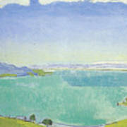 Lake Geneva From The Caux Poster