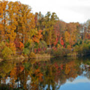Lake Helene And Fall Foliage Poster