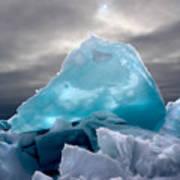 Lake Ice Berg Poster