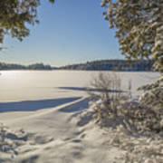Lake In Winter Poster