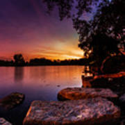 Lake Kirsty Twilight Poster