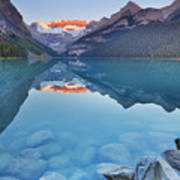 Lake Louise, Banff National Park, Canada At Sunrise Poster