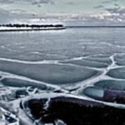 Lake Michigan Frozen Poster