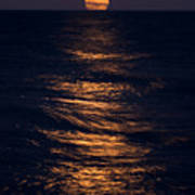 Lake Michigan Moonrise Poster