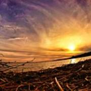 Lake Nipissing Sunset Callander Bay Poster