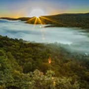 Lake Of The Clouds Sunrise Poster