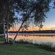 Lake Quannapowitt At Sunset Poster