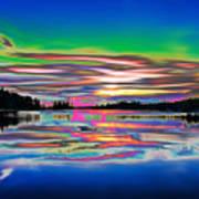 Lake Reflections 3 Poster