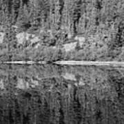 Lake Reflections In Black And White Poster