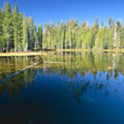 Lake Reflections Yosemite National Park California Poster