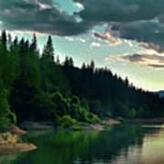 Lake Shasta Painterly Poster