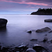 Lake Superior Twilight Poster by Eric Foltz