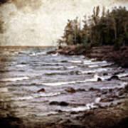 Lake Superior Waves Poster