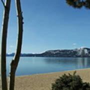 Lake Tahoe Incline Village Blue Sky Reflection Poster