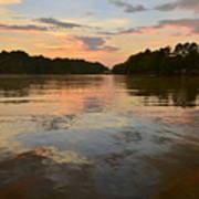 Lake Wedowee Alabama At Sunset Poster